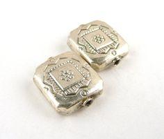 Pretty Bali Sterling Silver Beads // Flower by CastoGemstones, $3.50
