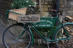 can't beat an old bike (in context of course) - an old bicycle sign