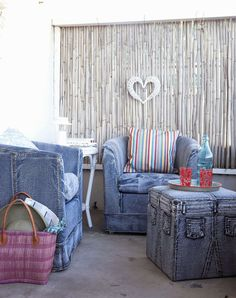 Mettez du jean dans votre déco ! - Décontracté, confortable et branché : le jean inspire les designers et conquiert notre intérieur.