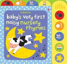 Little hands will love pressing the buttons on this bright and colourful board book to hear the tunes of their favourite nursery rhymes. Includes five popular nursery rhymes:'Hickory, Dickory, Dock', 'Humpty Dumpty', 'Twinkle, Twinkle Little Star', 'Baa Baa Black Sheep' and 'Hey Diddle Diddle'. With vibrant, high-contrast illustrations specially designed to appeal to young children. Ha érdekel, írj a barbi@rhymetime.hu címre, kérlek!