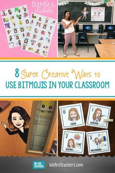 8 Super Creative Bitmoji Classroom Ideas for Teachers 8 Super Creative Ways to Use Bitmojis in Your Classroom.Want to use your bitmoji in the classroom? Get ideas here from teachers who have turned their bitmojis into fun ideas to encourage learning. Middle School Classroom, Classroom Rules, Classroom Design, Future Classroom, Classroom Organization, Classroom Management, Kindergarten Classroom, Google Classroom, Grade 3 Classroom Ideas