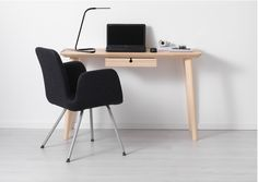 To share a tiny apartment with a boyfriend or girlfriend, downsize to a smaller desk like LISABO from IKEA. Ikea White Corner Desk, Ikea Small Desk, Desks For Small Spaces, Small Home Offices, Ikea Design, Wall Mounted Desk Ikea, Ikea Lisabo, Ikea Workspace, Cool Office Desk