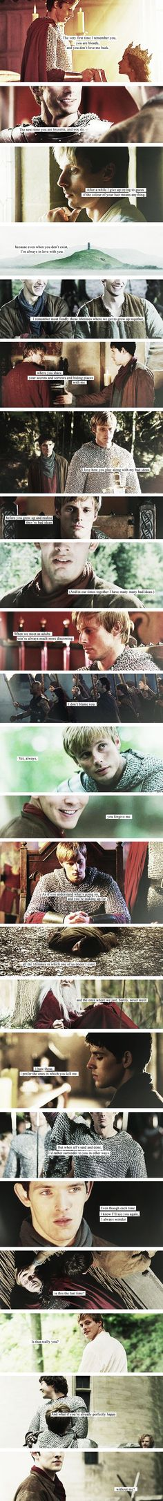 Oh My God!!! I don't really ship Merthur, but this was so beautiful!