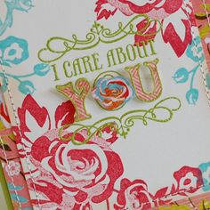 Love the rose stamp!