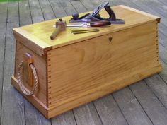 When I finally build a tool chest, I think I would like to combine the basic form of a traditional Sea Chest like this one with the functionality of the Anarchists Tool Chest.