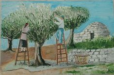 Greek Language, Second Language, Autumn Crafts, Photo And Video, Painting, School, Olive Tree, Greek, Painting Art
