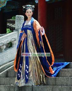 China Tang Period Emperor Wu Zetian Women Emperor Clothing