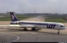 "LOT Polish Airlines Ilyushin Il-62M SP-LBG ""Tadeusz Kościuszko"" at Berlin-Schönefeld, June 1986. While en route to New York the following May, SP-LBG crashed near Warsaw following an uncontained engine failure and subsequent in-flight fire. All 183 aboard perished. (Photo: Andy Martin)"