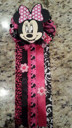 Minnie Mouse baby shower birthday corsage mum valentine favor on Etsy, $18.00