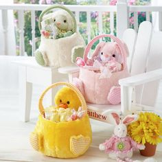 Plush Friends Easter Baskets LillianVernon http://woobox.com/ehxd6m/du2lqe