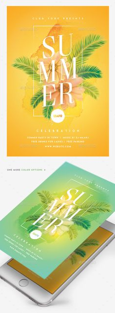 Summer Celebrations Flyer — Photoshop PSD #summer #summer flyer • Download ➝ https://graphicriver.net/item/summer-celebrations-flyer/19734229?ref=pxcr