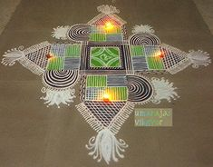 Rangoli Borders, Rangoli Border Designs, Rangoli Designs Images, Mehndi Designs, Sankranthi Muggulu, Rangoli Simple, Padi Kolam, Free Hand Rangoli Design, Floor Art