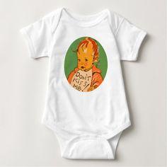 """Don't Kiss Me"" Vintage Retro Baby Baby Bodysuit - baby gifts giftidea diy unique cute"