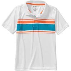46e85d87 George Boys Poly Chest Stripe Polo Shirt - Walmart.com