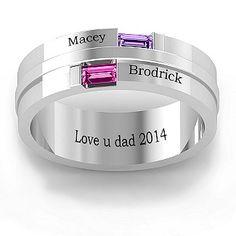 Baguette Men's Ring | Jewlr