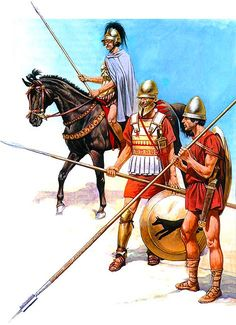 • Rider Companion cavalry unit, mid-IV century BC • Macedonian hoplite ranks…