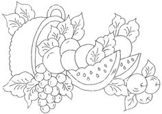 Pintura em Tecido Passo a Passo: Riscos  para pintura em tecido Colouring Pages, Adult Coloring Pages, Coloring Books, Hand Embroidery Patterns, Vintage Embroidery, Decorate Notebook, Copics, Coloring For Kids, Art Sketchbook