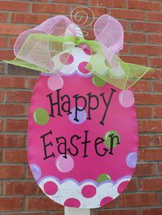 Easter Egg Door Decor by abossard on Etsy, $35.00