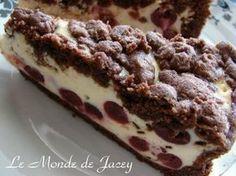 Quark-Kirsch-Kuchen - Curd-Cherry-cake - recipe in German Mini Cakes, Cupcake Cakes, Cupcakes, Food Cakes, Best Cookies Ever, Cherry Cake, Perfect Cookie, Cheesecakes, Cake Cookies