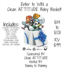 Clean ATTITUDE Baby Basket Giveaway #giveaway #baby #giftbasket http://fairytalereviews.com Facebook: http://facebook.com/fairytalereviews Twitter: http://twitter.com/F_T_Reviews & http://twitter.com/fairytalerviews