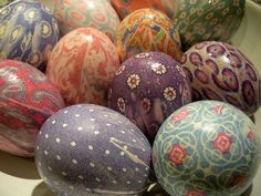 Silk-Tie Easter Eggs! A new family tradition for us.