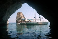 Our yachts S/Y GINA L and NIKI L. anchored in front of a cave in Kleftiko  www.polco-sailing.com/