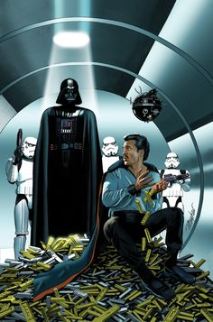 Artwork from the many adventures of Lando Calrissian