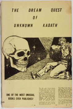 H. P. Lovecraft. LIMITED. The Dream Quest of Unknown Kadath.Buffalo: Shroud, 1955. First edition, first printing.