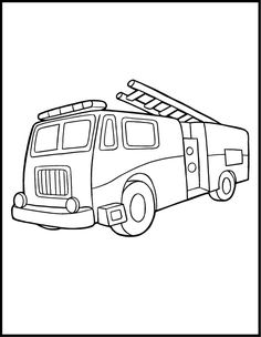 Coloring-Pages-Fire-Truck.jpg 618×798 pixels