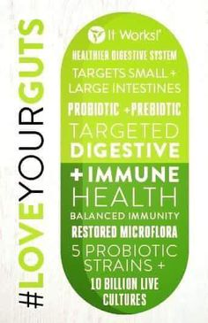 Checkout some of the benefits of our NEW PRODUCT ItWorks Probiotic … Text 316-670-6612 or email arikaswraps@gmail.com