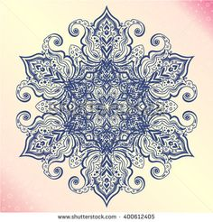 Mandala. Floral vintage round amulet. Indian, Arabic, Buddhist medallion. It can be used for tattoo prints on t-shirts, design and ad restaurants, wedding cards