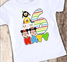 Tsum Tsum Inspired custom designed birthday t shirt tshirt