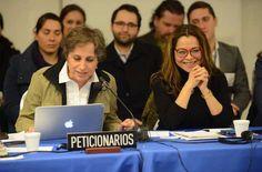 Carmen Aristegui asistió hoy a la CIDH, Washington, para pedir que sea atendido su caso. Foto: CIDH