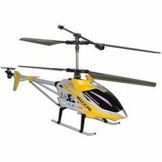 SYMA S033G Gyro Metal Frame Coaxial 3 Channel R/C Helicopter - Yellow by Syma. $106.98. SYMA S033G Gyro Metal Frame Coaxial 3 Channel Indoor Ready to Fly Helicopter   This is the largest Syma RC Helicopter 3 CH of its kind. It is 31 inches long (from tip of main blades to tip of tail blade, or 26 inches from tip of head cover to tip of tail blade) and boasts of a 7.4V 1500 mah powerful battery. As in most Syma models, the metal frame construction makes this a durable helicopter. ...