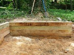 Building a Timber Retaining Wall : How-To : DIY Network