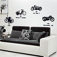 Doudouwo ® Vintage Solid stil personlig Bike Wallstickers