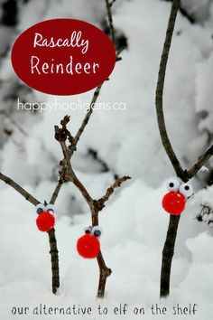 Twig reindeer...so cute