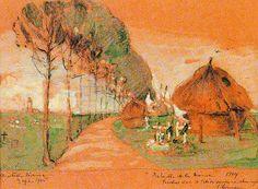 Avenue, 1915 by Elizabeth Nourse, watercolour