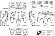 Orthographic Nitendo Controller