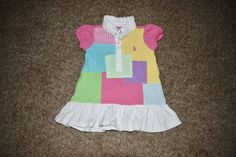 Ralph Lauren Girls Cotton Polo Dress Patches Pink Pony Size 6 Months   #RalphLauren #Casual
