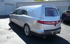 back of new Lincoln Hearse