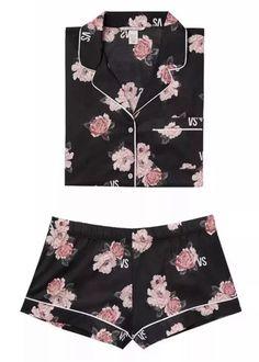 bcc5a5a19b Victoria s Secret Floral Lightweight Cotton Short Pajama Set Size L   fashion  clothing  shoes