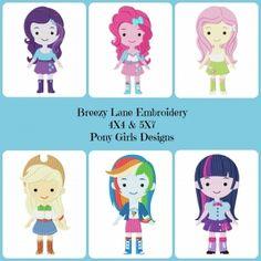 Pony Girls Machine Embroidery Design Set 4X4 & 5X7 - Breezy Lane Embroidery
