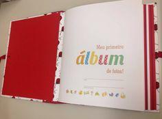 Álbum de fotos - Álbum de bebê - Encadernação Manual Artística - Festa Machê