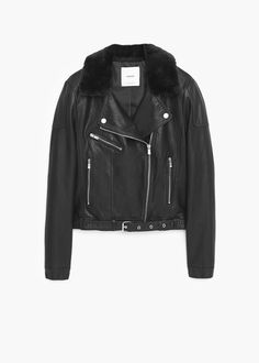 zara femme blouson en cuir mode pinterest zara vestes en cuir noir et vestes. Black Bedroom Furniture Sets. Home Design Ideas