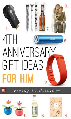 4 year wedding anniversary ideas for him