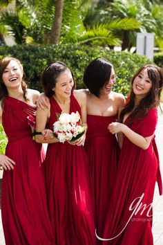 Not this color, but this is how I want to do the bridesmaids dresses, same color, different styles