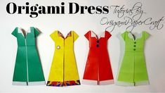 How To Make Origami DRESS | Tutorial By OrigamiPaperCraft