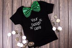 March Toddler Shirt Mockup Black| St Patricks Day Shirt Free Design, Your Design, St Patrick Day Shirts, Shirt Mockup, School Design, St Patricks Day, Design Bundles, Your Photos, Seasons