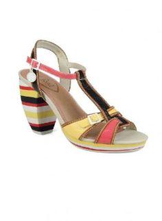 Feud Shoes Rainbow T Bar Sandals,  Shoes, womens sandals  fashion shoes  ladies sandals, Chic